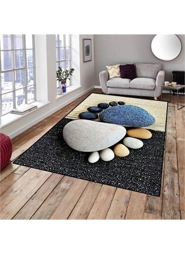 Halı Taşlar Modern Dekoratif 3D Salon Halıları 80X150Cm Renkli